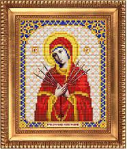 """Схема для вышивки бисером """"Пресвятая Богородица Семистрельная"""" И-5004"""