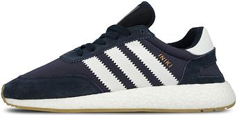 Мужские кроссовки Adidas Iniki Runner Boost Blue (люкс копия)