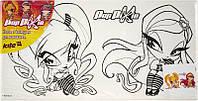 Холст для рисования (15х30) + краски KITE 2014 Pop Pixie 215 (PP14-215K)