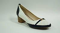 Туфли женские бело-черные