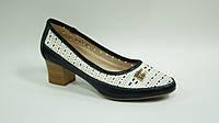 Туфли женские черно-белые