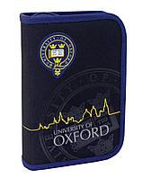 "531384 Пенал твердый (1 отд. 2 отв.) YES Oxford ""Black"""
