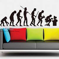 РАСПРОДАЖА! Виниловая наклейка - Эволюция человека