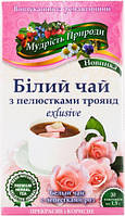 Мудрость природы Белый чай с лепестками роз, 20 шт.