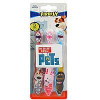 Pets зубная щетка детская. от 3-х лет, 3 шт.