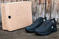 Кроссовки мужские на зиму Timberlend черные (реплика)
