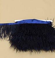 Перья натуральные на ленте цвет  Черный  купить   оптом Арт Текстиль Украина