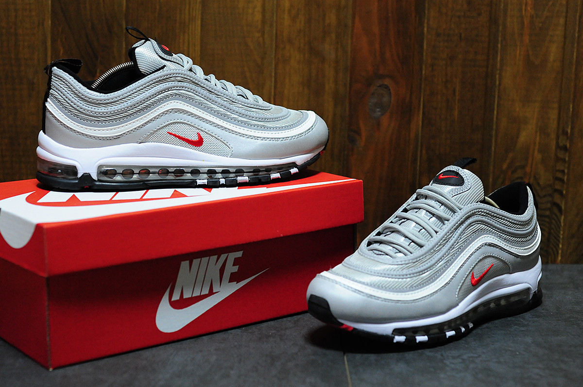 9bc69ad3 женские кроссовки Nike Air Max 97 Silver найк аир макс реплика