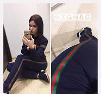 Новое поступление! Женский костюм  2-нить реплика Gucci темно-синий 42-44 46-48, фото 1