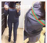 Новое поступление! Женский костюм  2-нить реплика Gucci графит 42-44 46-48, фото 1