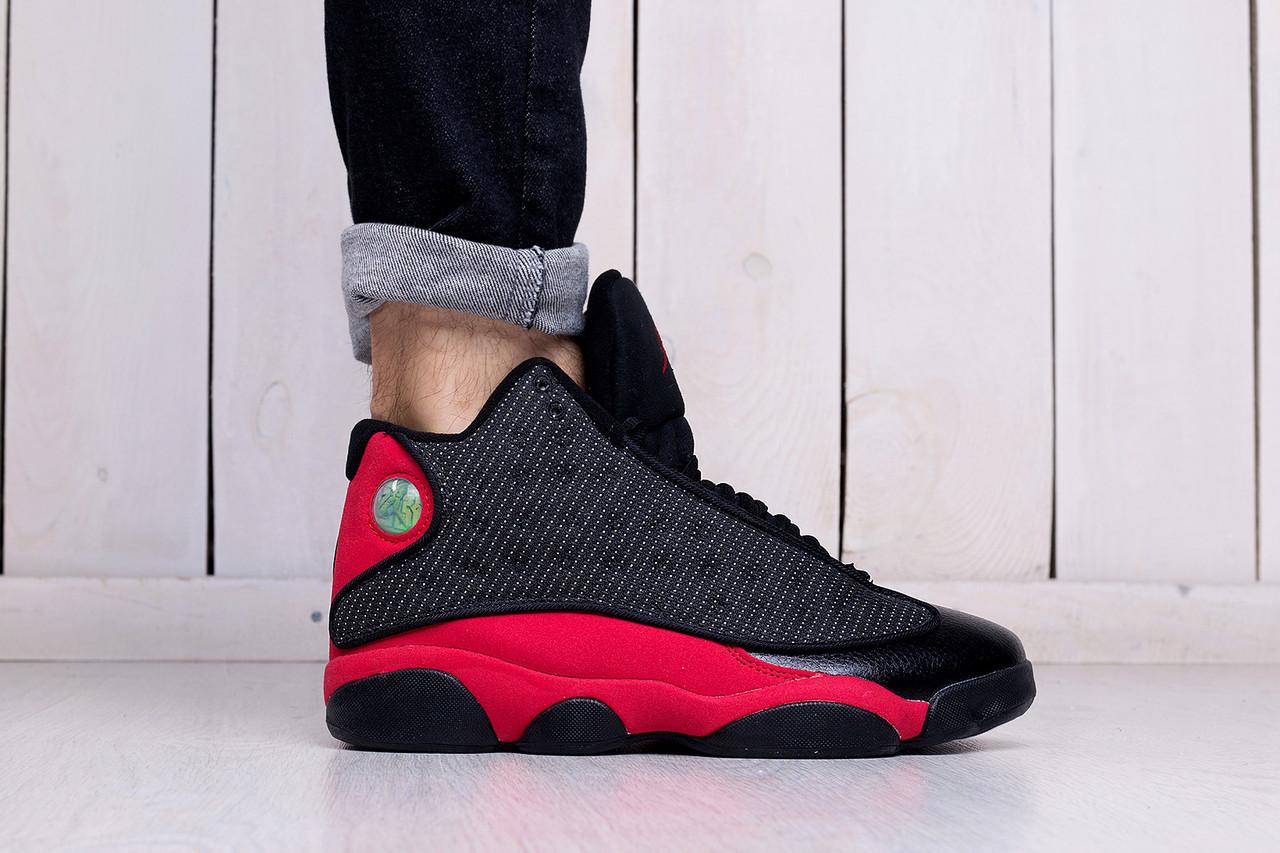 ecf14d4b7be3 Кроссовки мужские модные Nike Jordan 13 Retro Bred (найк эир джордан,  реплика) (