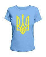 Футболка Желтый Тризуб (женская) ФО (Патриотические футболки)