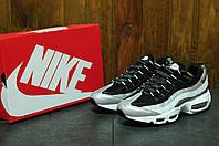 Кроссовки мужские стильные Nike Air Max 95 Black/Grey (найк аир макс)  (реплика)