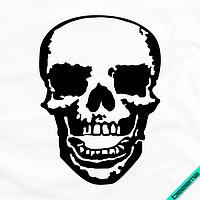 Рисунки на банданы Череп контурный [7 размеров в ассортименте] (Тип материала Матовый)