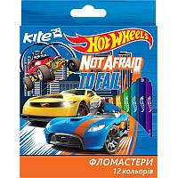 Фломастеры 12 цветов KITE 2017 Hot Wheels 047 (HW17-047)