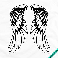 Термоперевод для бизнеса на колготки Крылья [7 размеров в ассортименте] (Тип материала Матовый)