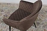 Кресло обеденное BAVARIA (Бавария) велюр коричневый Nicolas, фото 5