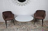 Кресло обеденное BAVARIA (Бавария) велюр коричневый Nicolas, фото 2