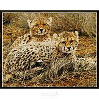 """Набор для вышивания крестиком """"Маленькие принцессы (Леопарды)"""" Kustom Krafts - Little Princesses - Baby Cheetahs 99627"""