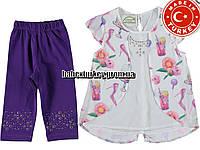 Детские летние костюмы оптом из Турции. Костюм для девочки 3,4,5,6,7 лет