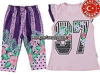 Детские летние костюмы оптом из Турции. Костюм для девочки 2,3,4,5 лет
