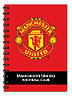 Блокнот А6 (80 листов, пластик, спираль) KITE 2014 Manchester United 226 (MU14-226K)