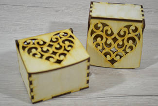 Деревянная коробка для упаковки Подарочная коробка мини