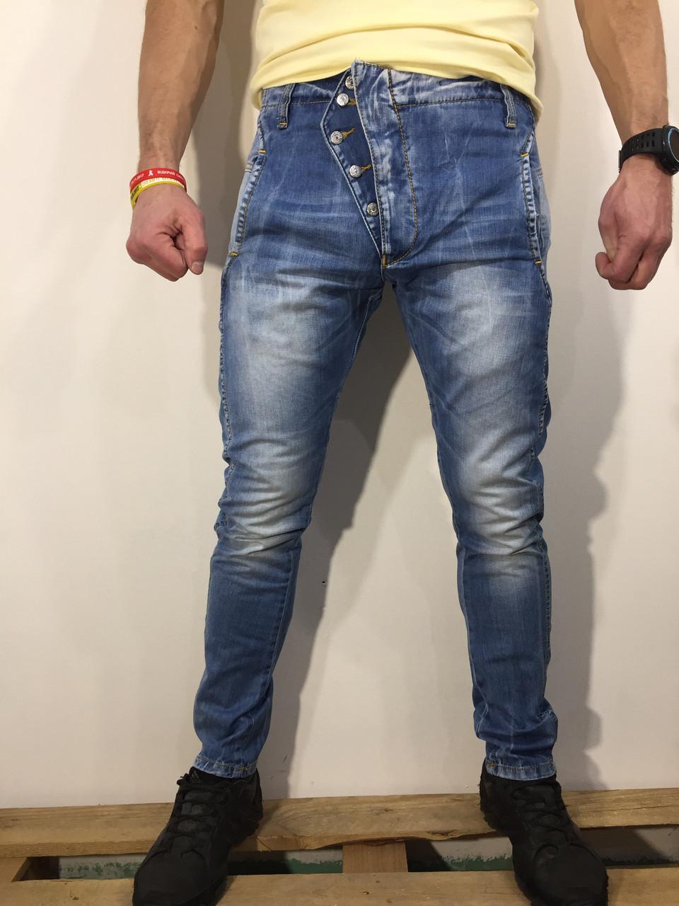 Чоловічі джинси INFOR'S HOMME DENIM оригінал 105824 блакитні 28,29