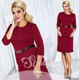 Платье больших размеров  48+ с баской  рт 561-26/41