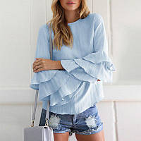 Свободная блуза с рюшами на рукавах , фото 1