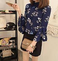 Шифоновая блузка с цветами