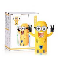 Автоматический диспенсер для зубной пасты с держателем для щеток Миньон. Хит продаж!