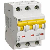 Автоматичний вимикач ВА47-60 3P 16 A B IEK