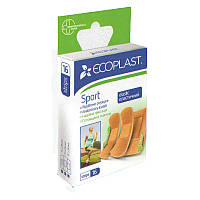 Набор пластырей медицинских тканных прочных Спорт ЄCOPLAST 16 шт.