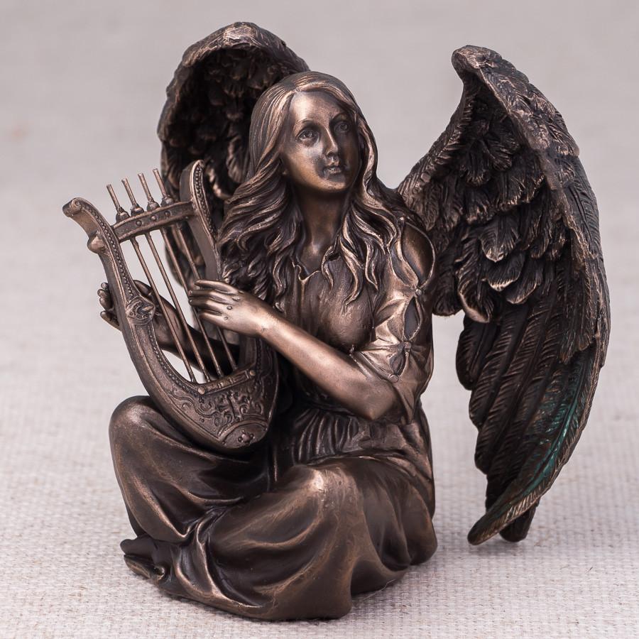 Статуетка Veronese Ангел з арфою 18 см 76365