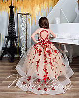 Детское нарядное платье марсала