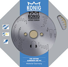 Пильний диск по алюмінію для різання пвх та алюмінію