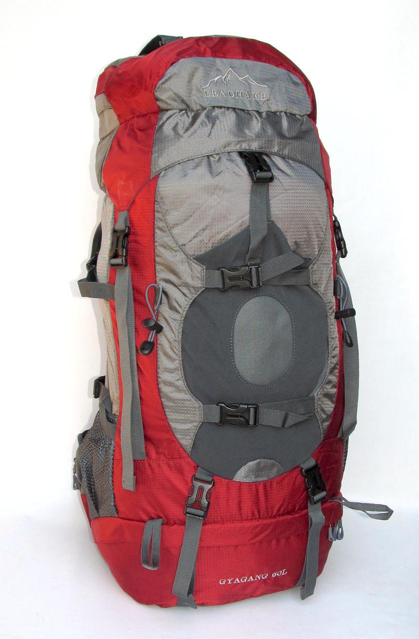 Туристичний рюкзак Leadhake DG-058 червоний 60 літрів