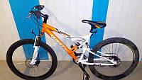 Горный спортивный велосипед 24 дюймов Azimut Scorpion G-FR/D-1(оборудование SHIMANO),бело-оранжевый