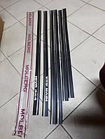 Молдинги на двери Лада, Ваз, Нива 2121, 3,5 см Турция Sahler