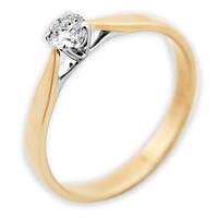 Золотое кольцо с бриллиантом Преклонение 17 000000433