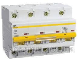 Автоматичний вимикач ВА47-100 4P 80 A D IEK