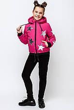 Детская весенняя куртка со звездой размер 122, 128, 134 ,140, 146,152, фото 2