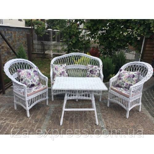 Мебель плетеная белая