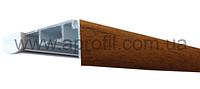 """Карниз для штор алюминиевый """"Модель 05"""" с декоративной пленкой на две дорожки под евро крючок, фото 1"""