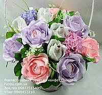 """Букет роз из конфет """"Нежный мотив""""№11+6"""