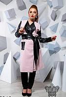 Модное кашемировое женское пальто под пояс, Мода плюс, фото 1