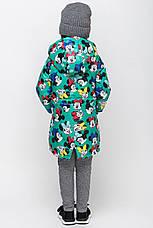 Осенняя удлиненная  куртка на малышей c микки маусом размер 92, 98, 104, 110, 116, 122, фото 2