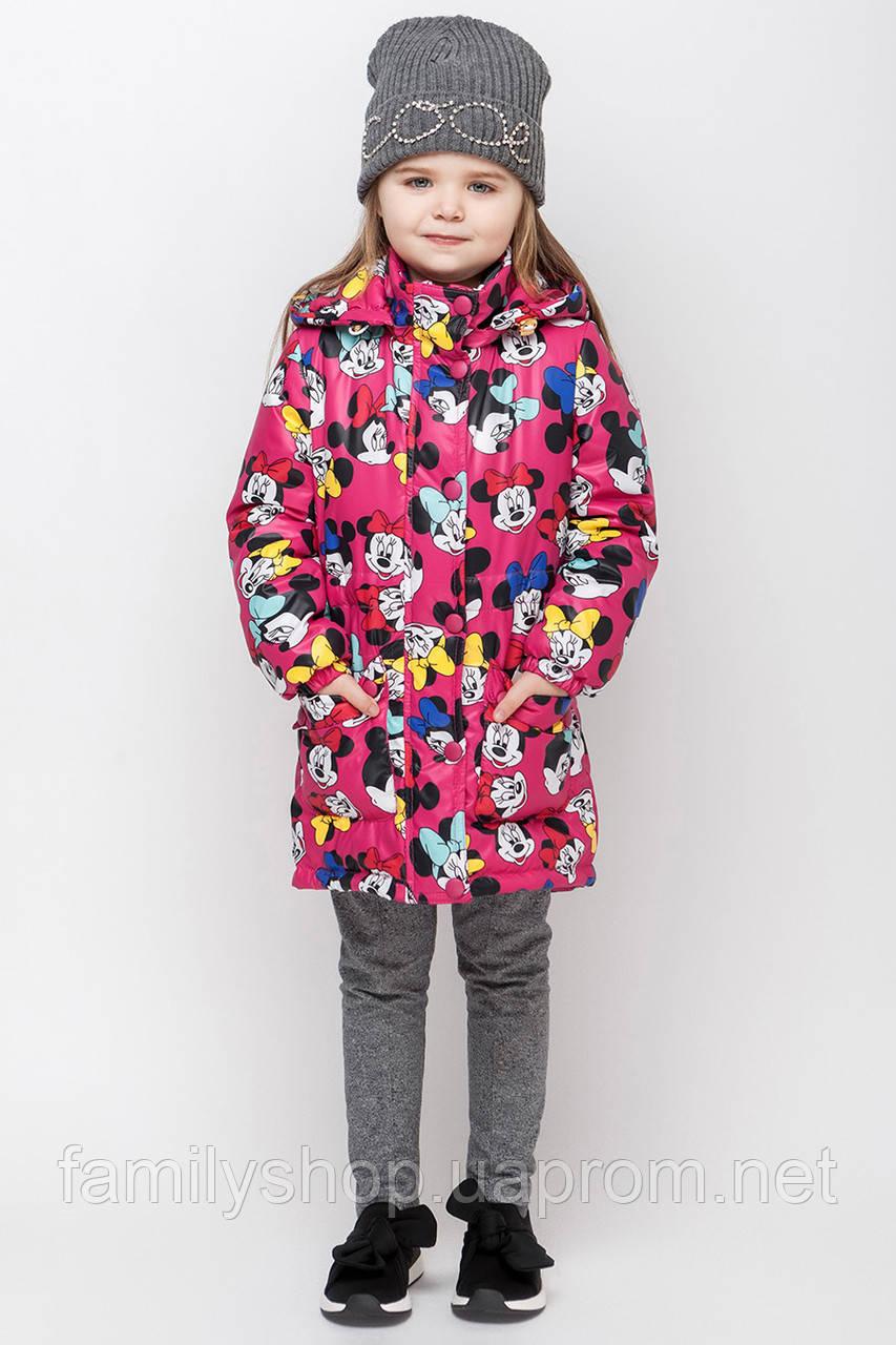 Осеннее детское пальто c микки маусом размер 92, 98, 104, 110, 116, 122