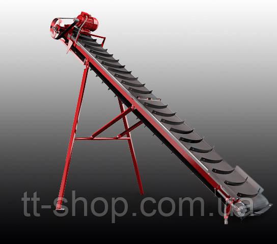 Ленточный конвейер длинной 9 м, ширина ленты 400 мм